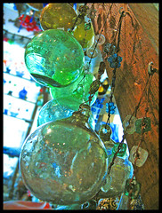 Colori di vetro (**luisa**) Tags: blue green glass ball souvenirs bravo colours egypt naamabay