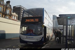 19077 (northwest85) Tags: stagecoach portsmouth mx56 ftp 19077 alexander dennis adl enviro 400 trident 2 700 bognor regis hard interchange bus mx56ftp