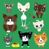 Crazy cats (thecrazypen) Tags: adobeillustrator vector nakedcat cat cute illustration cats
