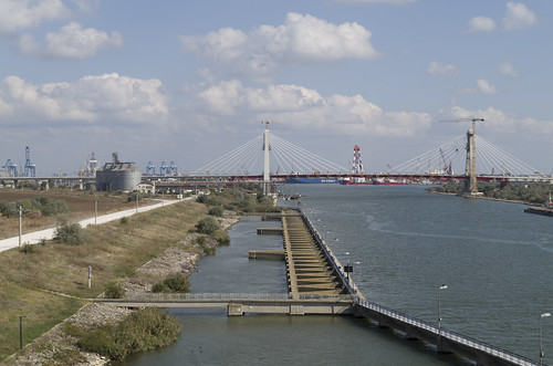 Construction of the bridge over Danube-Black Sea Canal, 06.10.2014.