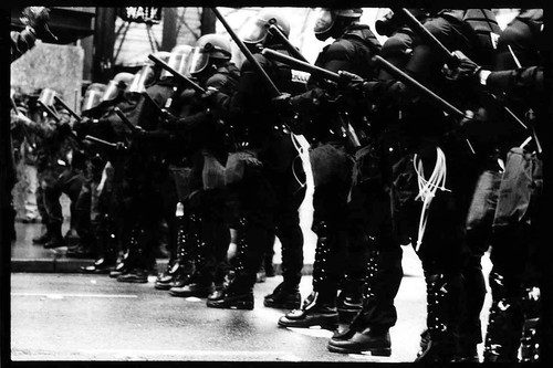 Riot Cops, Image by Lauren Sayoc