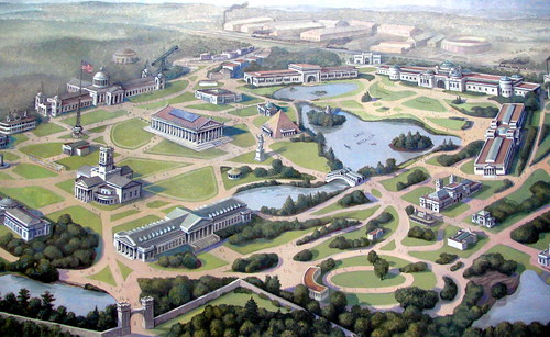 Bird's eye view of the 1896 TN Centennial Exposition
