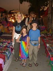 Meta, Anna and Caleb at the night market
