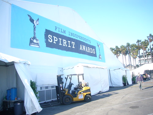 Spirit Awards tent exterior