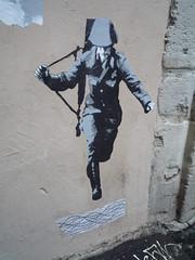 Ich bin ein berliner (Konrad Schuman) (nder) Tags: street urban streetart paris france berlin pasteup art collage de calle stencil europe strada arte ile bin di urbana rue mur ich franais ein berliner array urbain artiste pochoir ender berlin19892009