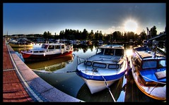 Boats on Porvoo river part II - by wili_hybrid