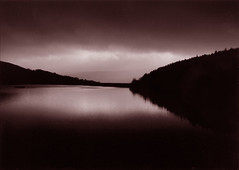 Ladybower in a mood (Rich007) Tags: uk greatbritain england blackandwhite bw cloud reflection water river blackwhite unitedkingdom derbyshire peakdistrict gb ladybowerreservoir ladybower naturesfinest p1f1 ladybowerwater blackribbonbeauty