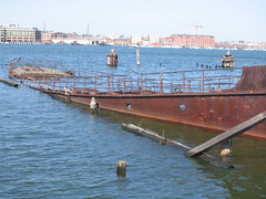 sunken ship (MasterGeorge) Tags: industry water metal harbor boat ship rusty baltimore shipwreck sunken wreck musem