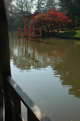 Pond and Torii from the Viewing Pavilion