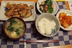 japanese style home dinner (michenv) Tags: japan dinner miso interestingness yum rice explore 日本 oysters ご飯 misosoup homecooking washoku 味噌汁 和食 interestingness224 i500 日本食 かき michenv explore5oct06 手作り料理 炒め