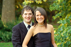 Cute Couple (wishymom (Stephanie Wallace Photography)) Tags: portrait couple homecomingdance formaldance