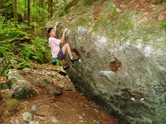 At The Cobbles (Dru!) Tags: canada hope bc britishcolumbia boulder boulders bouldering conglomerate stemalot intheforest