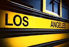 school bus again (lomokev) Tags: california school venice reflection bus yellow la losangeles lomo lca xpro lomography crossprocessed xprocess lomolca powerline schoolbus agfa jessops100asaslidefilm agfaprecisa yellowbus lomograph agfaprecisa100 cruzando precisa jessopsslidefilm file:name=day05r4r2e078
