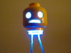 Blue LED.jpg (oskay) Tags: halloween scary ghost ghoul livingdead undead led make craft howto diy hacking creepy lego carving