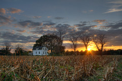Farmhouse - No Border (jason_minahan) Tags: autumn sunset fall clouds farm nj princeton hdr mercercounty xti
