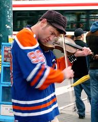 Street Musician (Musical Mint) Tags: street city musician music toronto downtown violin passion busker spadina kensingtonmarket streetcar musicalmint