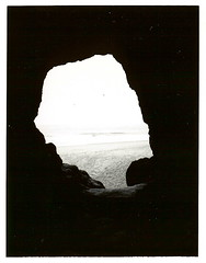 Tunnel lookout ~ Near Cape Meares ~ August 2005 (brettbigb) Tags: 2005 trip travel summer vacation love oregon fun polaroid togetherness near anniversary yes or tunnel august roadtrip lookout brett together cape polaroids aug 667 oneyear pacificcoast goodtimes landcamera polaroidlandcamera meares polaroid667 automatic230 itmustbelove nearcapemeares tunnellookout savepolaroid savepolaroids