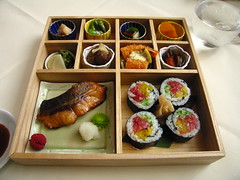 Megu, Bento Box (Adam Kuban) Tags: fish sushi lunch japanese midtown bento japanesefood nyccuisine megu firstavenue sushirolls japanesecuisine midtowneast beekman bentoboxes east47thstreet seriouseats 845unplaza