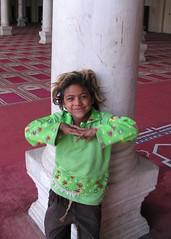 Girl in Mosque (josiehen) Tags: children mosque cairo amribnalas