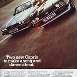 Ford Capri Calypso and Cabaret  Retro Advert