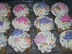 It's still my birthday! (Crack a Spine) Tags: birthday cakes cake cupcakes barbie sprinkles icing swirls frosting