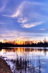 Big Sky and Reeds (tnader) Tags: mi sunrise pentax dundee ida hdr