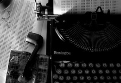 Once upon a time.. (ryanbecker12) Tags: bw typewriter writing paper words machine onceuponatime letter foglia carta pipa biancoenero lettera parole tabacco frasi macchinadascrivere