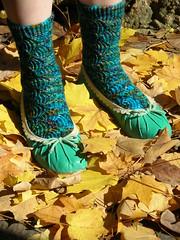 Pomatomus finished (stupid clever) Tags: sockknitting southpacific knitty sockyarn pomatomus lisasouza