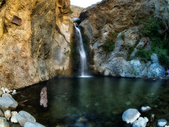 Eaton Canyon Falls (Muzzlehatch) Tags: california mountains gabriel waterfall los san angeles hiking olympus 2006 canyon falls fisheye eaton mapprinclude 8mm peleng e500 sharingexposures inttag