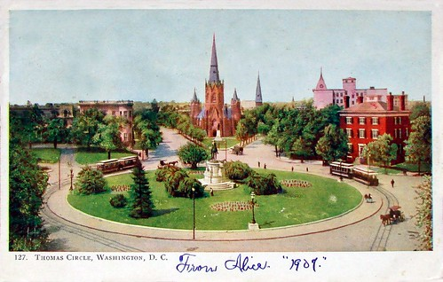 Thomas Circle 1907 by Ronnie R.