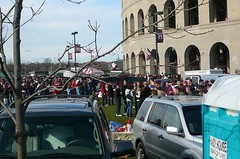 tailgating outside the stadium lasts well into the 3rd quarter (alist) Tags: cambridge mit harvard cambridgemass cambridgema 02139 cambridgeport robison