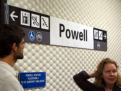 platform_wall (brunoboris) Tags: sanfrancisco signs bart signage powell exit powellstreet wayfinding bayarearapidtransit