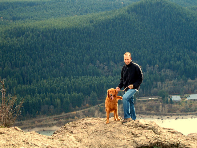 Cooper and Mike at Rattlesnake Ledge