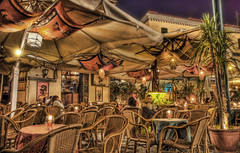 Naples Cafe in the Evening - by Stuck in Customs
