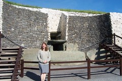 Jayne at Dún Fhearghusa/New Grange, Ireland in 2001