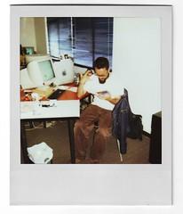 La Primera (Vacacion) Tags: selfportrait me ego polaroid office colombia bogota yo autorretrato vacacion miguelvaca paticadeldiablo