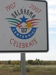 Oklahoma Centennial Sign