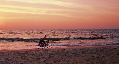 Bike on Beach, Goa