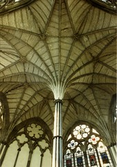 London, Westminster Abbey, chapter house, pillar (groenling) Tags: london westminsterabbey pillar vault rib chapterhouse