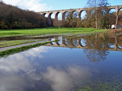 Topsy Turvy (welshlady) Tags: uk autumn trees history water southwales wow reflections ilovenature flooding memorial seasons searchthebest viaduct 100views 400views 300views 200views 500views lovely bandstand 600views 700views railwaybridge barryisland puttinggreen standingovation porthkerrypark helluva captainscott nellspoint top20landscapes top20landscapeshots kodakz740 welshlady instantfave 25faves mywinner abigfave flickrgold porthkerryviaduct reached40inexplore