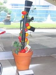 Rifle Flowerpot (Bart van Dijk (...)) Tags: nyc newyork art museum pepper gun kunst tomatoes rifle un weapon unitednations flowerpot paprika tomaten vn bloempot geweer verenigdenaties michaelpisano
