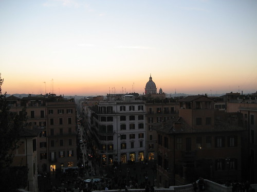 Sunset on Rome