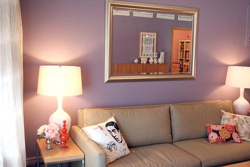 sofa, lamps