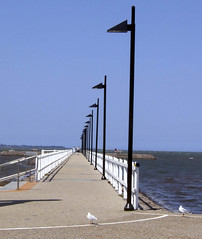 Wynnum  Pier (fuzzy vision) Tags: blue light sea pier australia lamppost queensland wynnum wynnumpier anawesomeshot