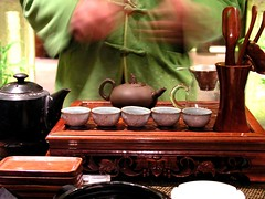 Tea Serving (silverlinedwinnebago) Tags: china house man utensils cup december tea chinese ceremony 2006 xian teapot server asia1