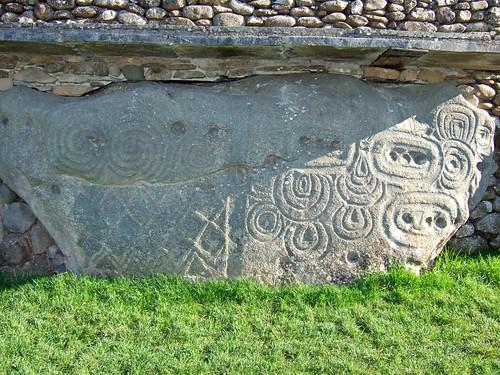 Newgrange Megalithic Passage Tomb : Kerbstone