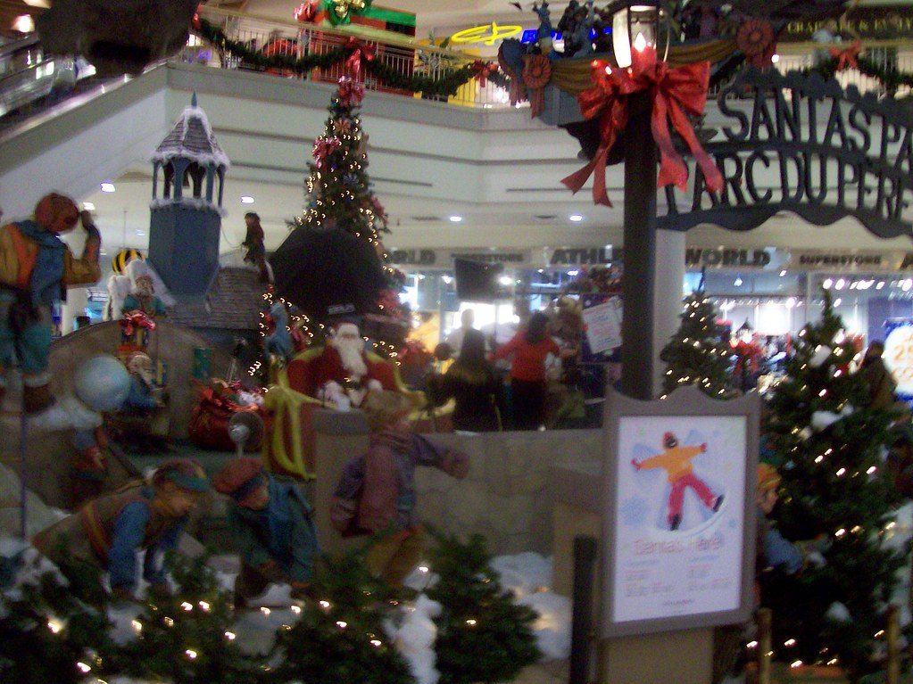 """Santa's Park"" at St. Laurent Centre in east-central Ottawa."
