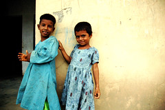 (lecercle) Tags: blue school girls india kids rural children hope rajasthan alwar