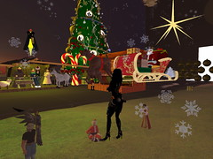 Second Life BB 07 (Gary Hayes) Tags: secondlife bigbrother housemates xmastree challenges endemol muve environmentdesign virtualrealitytv tvformat