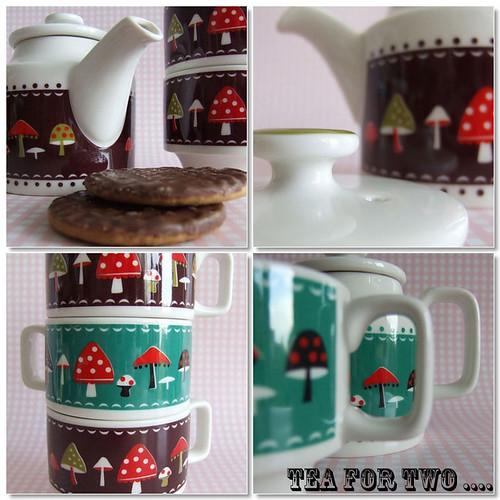Decole - Mushroom Teapot & Mugs